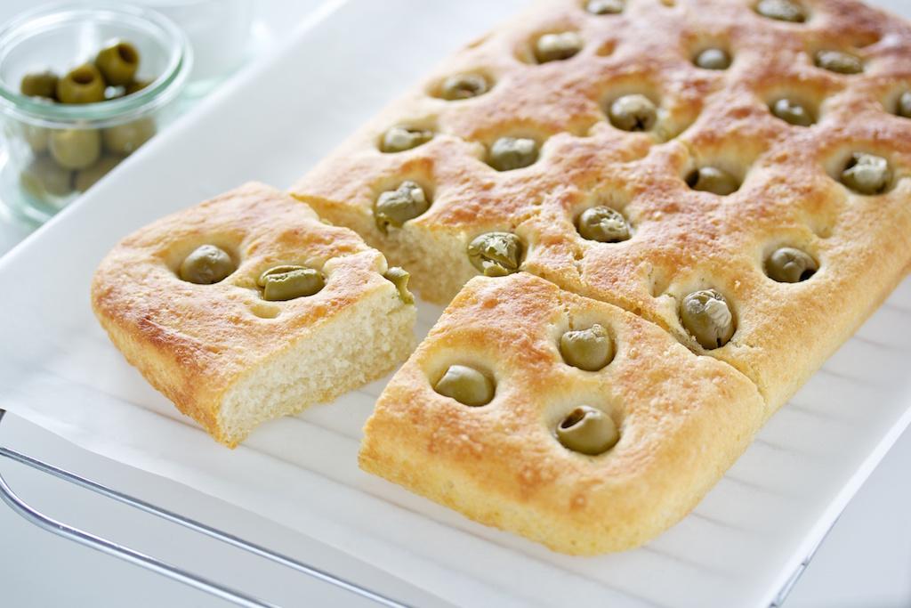 Focaccia mit Oliven