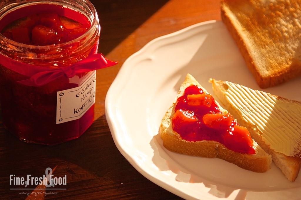 Erdbeere-Mango-Konfitüre