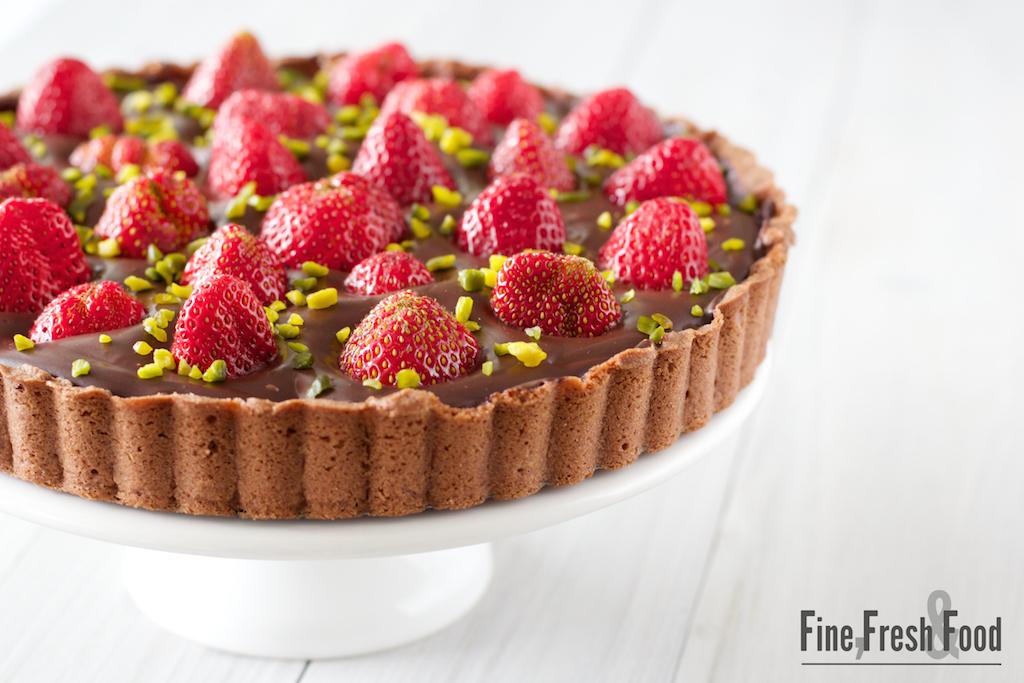Erdbeeren-Ganache-Tarte