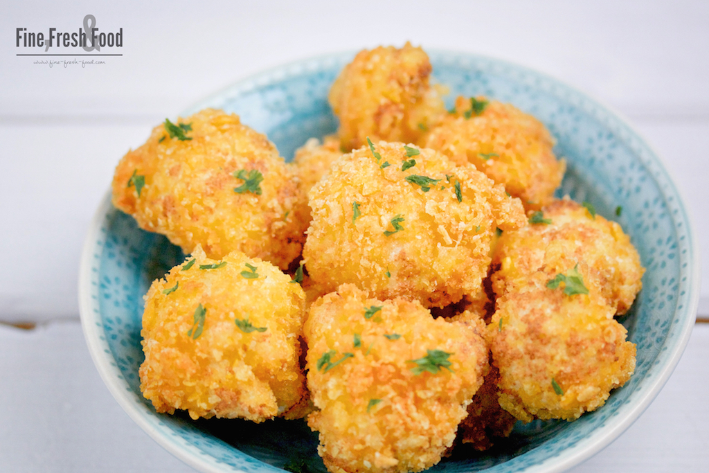 Blumenkohl im Cornflakes-Parmesan-Mantel