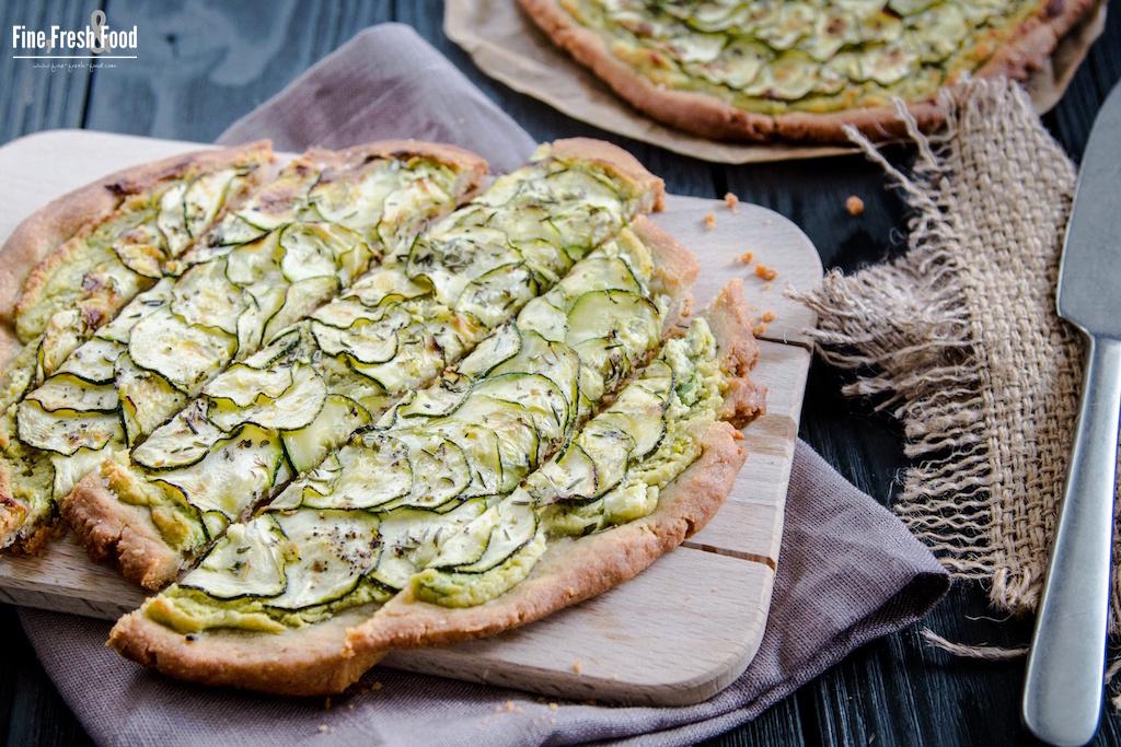 Buchweizen-Tarte mit Zucchini