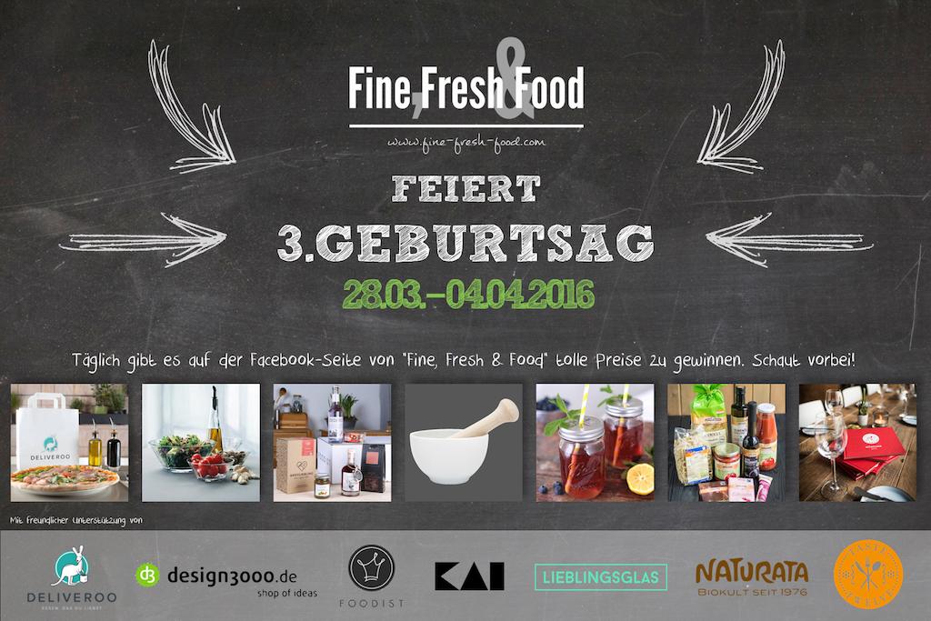 3 Jahre Fine, Fresh & Food