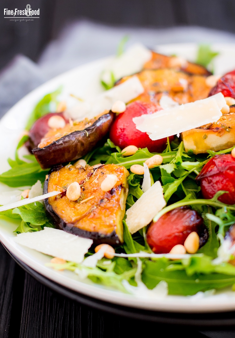 Rucola-Salat mit Balsamico-Tomaten