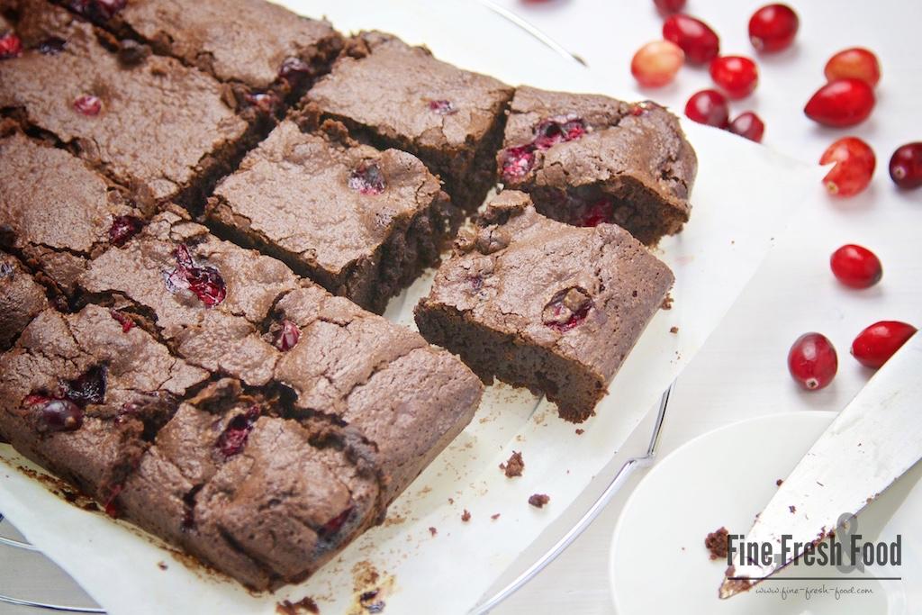Cranberry-Brownies