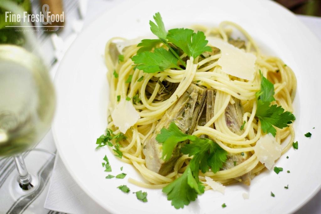 Spaghetti mit Artischocken-Cremesauce