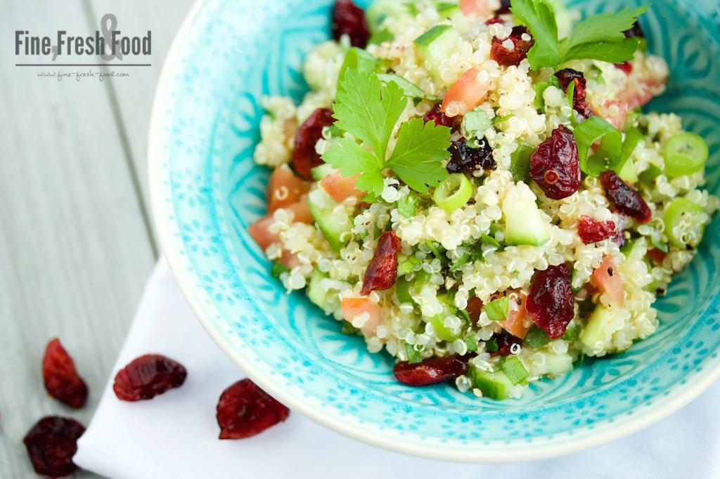Quinoa-Taboulé mit Cranberries