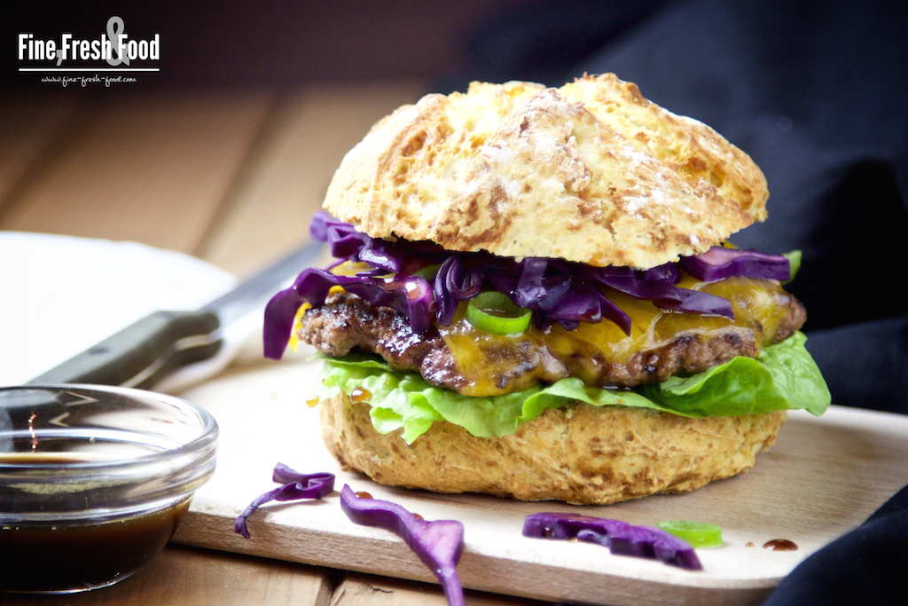 Red Cabbage & Cheddar Burger